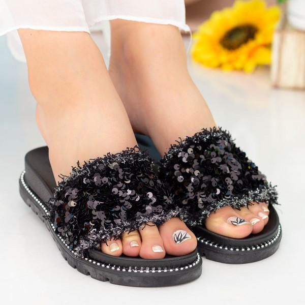 Papuci Dama ASN1 Black Mei