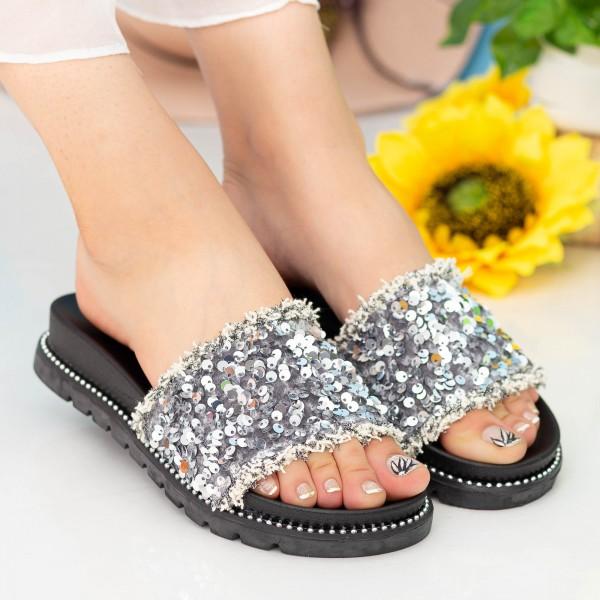 Papuci Dama ASN1 Silver Mei