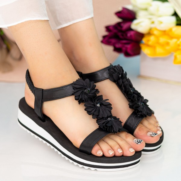 Sandale Dama cu Platforma WS150 Black Mei