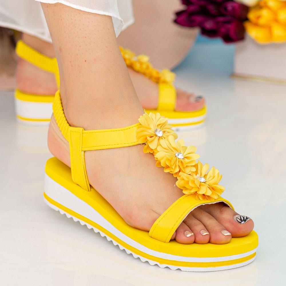 Sandale Dama cu Platforma WS150 Yellow Mei