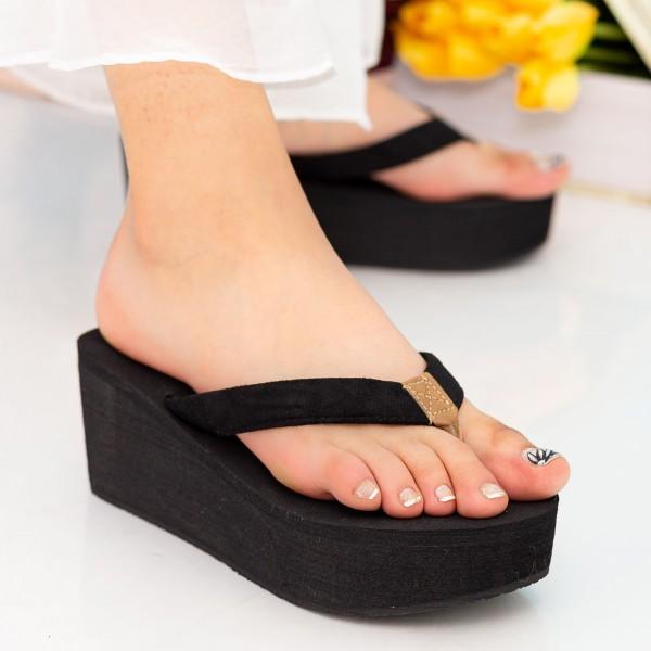 Papuci Dama cu Platforma NX1 Black Mei