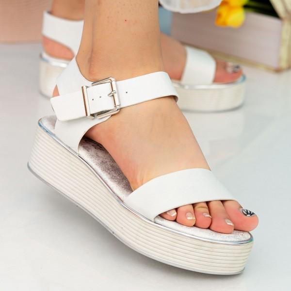 Sandale Dama WS133 White Mei