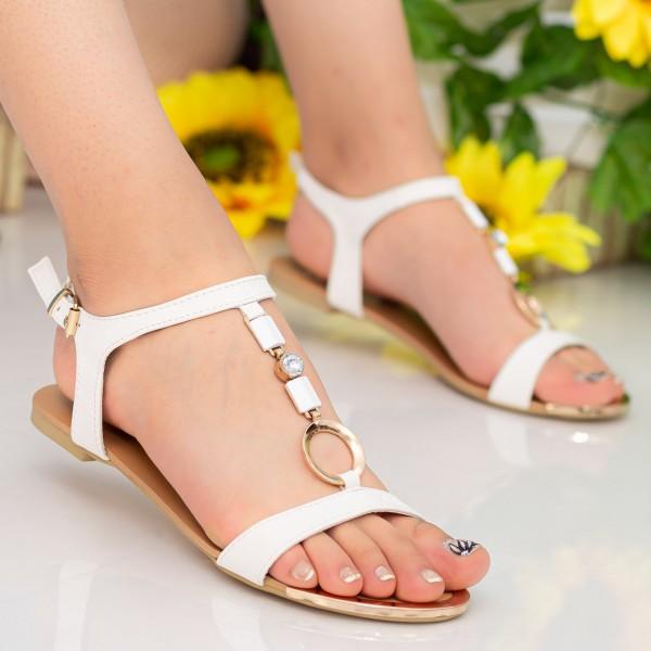 Sandale Dama LM147 White Mei