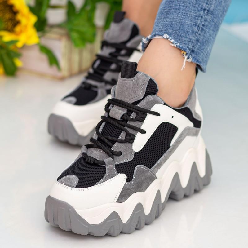 Pantofi Sport Dama cu Platforma CJL21 Black Mei