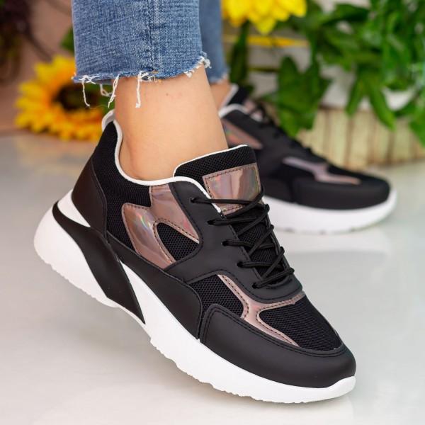 Pantofi Sport Dama cu Platforma GB77 Black Mei