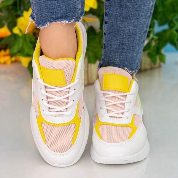 Pantofi Sport Dama cu Platforma GB77 Pink Mei