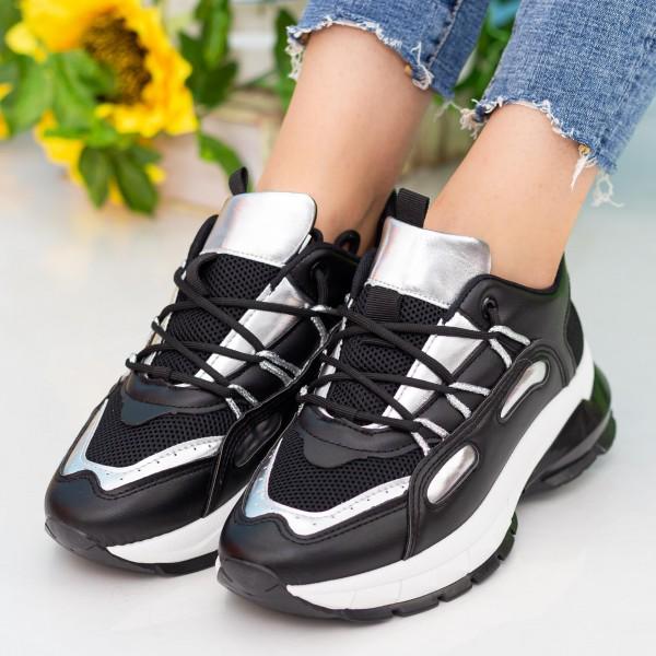 Pantofi Sport Dama YKQ206 Black-Silver Mei
