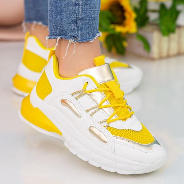 Pantofi Sport Dama YKQ206 Yellow-Silver Mei