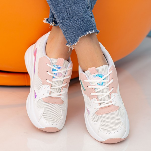 Pantofi Sport Dama cu Platforma X2898 Pink Se7en