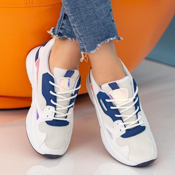 Pantofi Sport Dama cu Platforma X2898 Royal Blue Se7en
