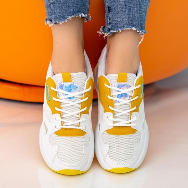 Pantofi Sport Dama cu Platforma X2898 Yellow Se7en