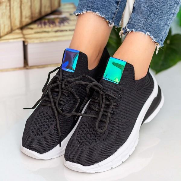 Pantofi Sport Dama 23-15 Black Se7en