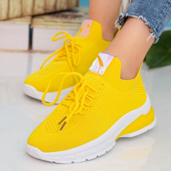 Pantofi Sport Dama 23-15 Yellow Se7en