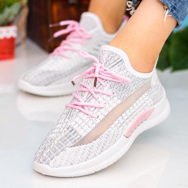 Pantofi Sport Dama X2916 White-Pink Se7en