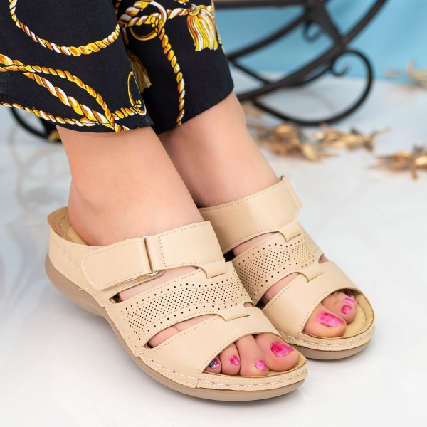 Papuci Dama 505 Khaki OUGE Fashion