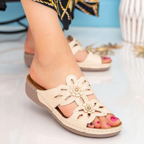 Papuci Dama 102 Beige OUGE Fashion