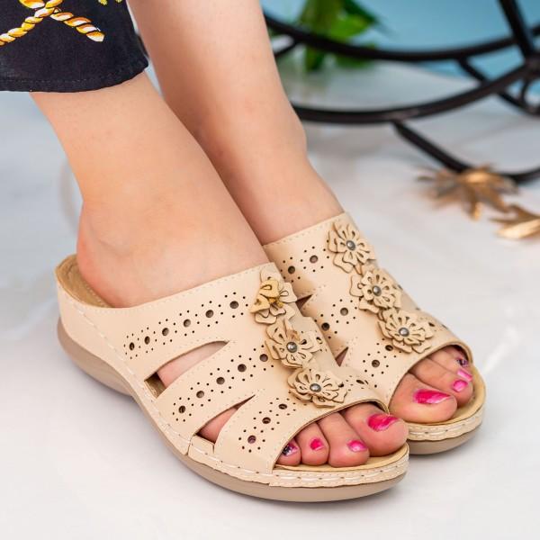Papuci Dama 503 Khaki OUGE Fashion