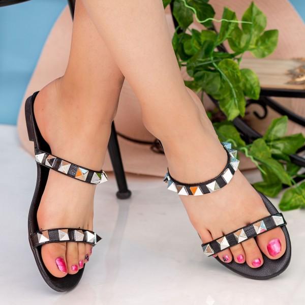 Papuci Dama DD87 Black Seastar Blue