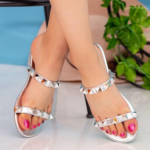 Papuci Dama DD87 Silver Seastar Blue