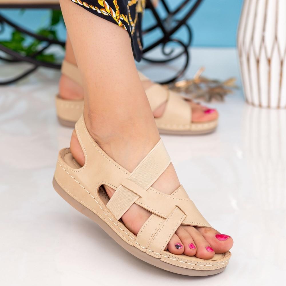 Sandale Dama F80 Beige Alogo