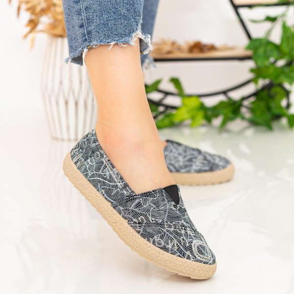 Espadrile Dama E48 Black Fashion