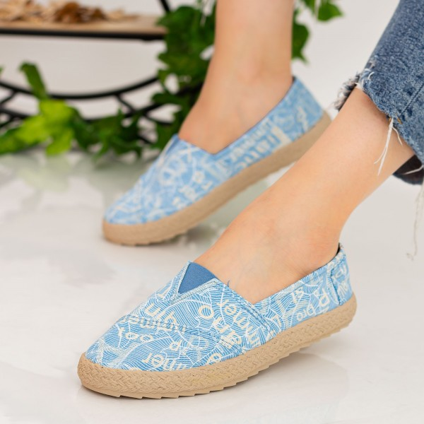 Espadrile Dama E48 Light Blue Fashion