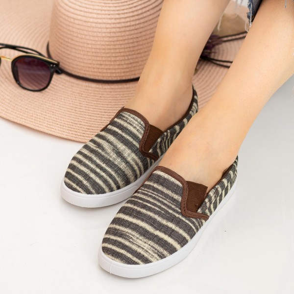 Espadrile Dama H708 Brown Fashion