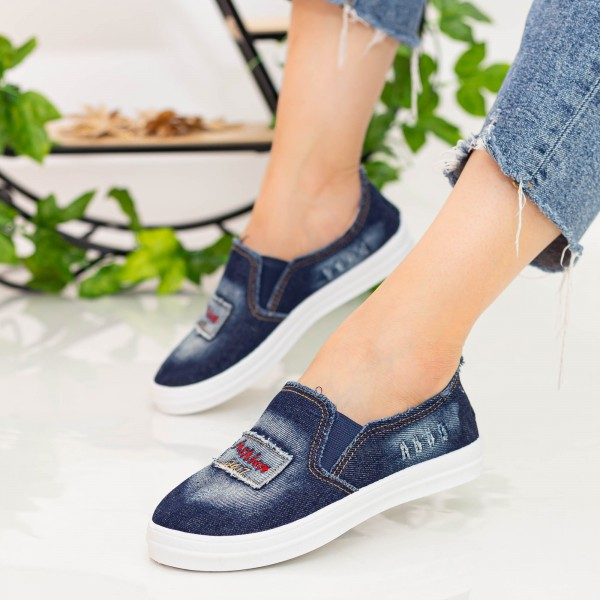 Espadrile Dama H108 Navy Fashion
