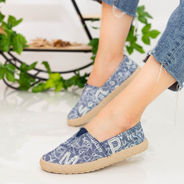 Espadrile Dama E48 Navy Fashion