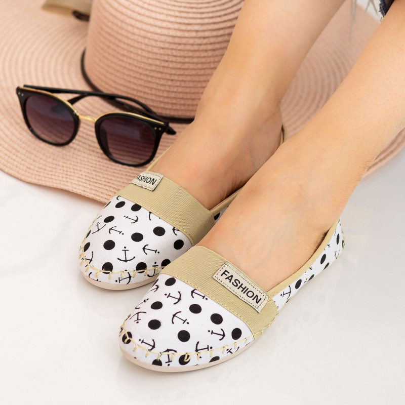 Espadrile Dama E124 White Fashion