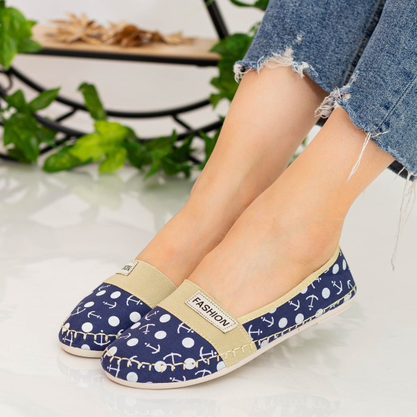 Espadrile Dama E124 Navy Fashion