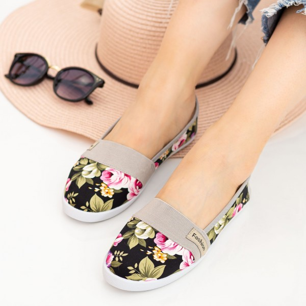 Espadrile Dama E8 Black Fashion