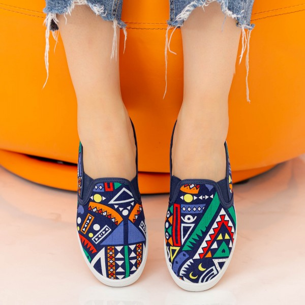 Espadrile Dama H829 Navy Fashion