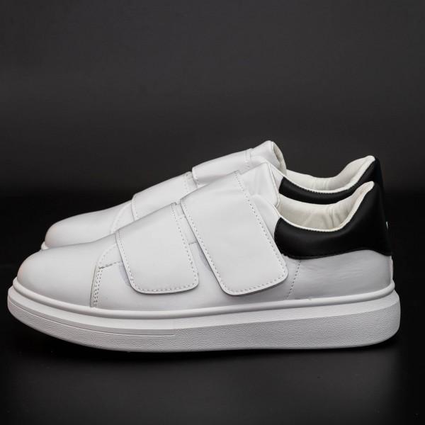 Pantofi Sport Barbati B83 White-Black Mei
