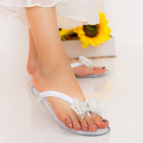 Papuci Dama 588-005 White Mei