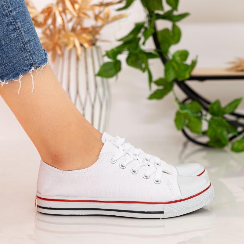 Tenisi Dama B03 White Fashion