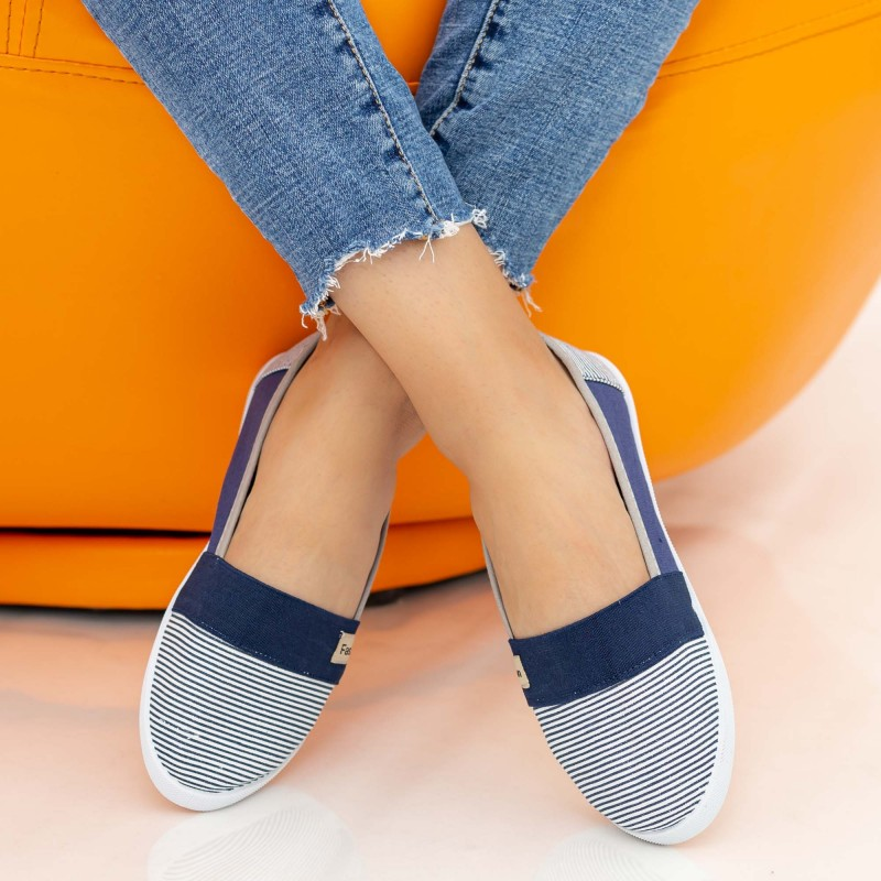 Espadrile Dama E9 Navy Fashion