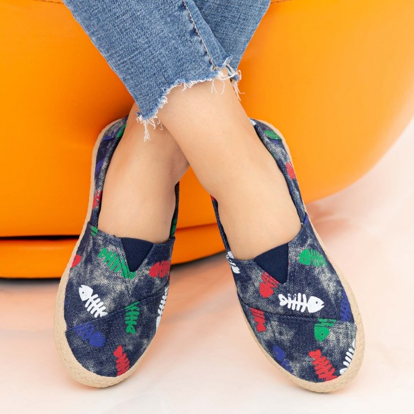 Espadrile Dama E47 Navy Fashion