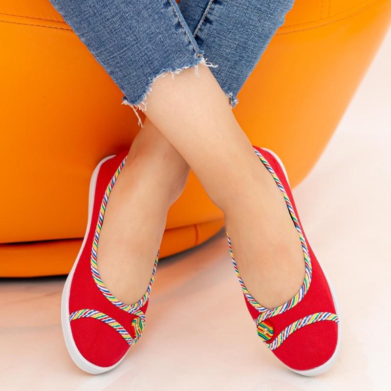 Balerini Dama E71 Red Fashion