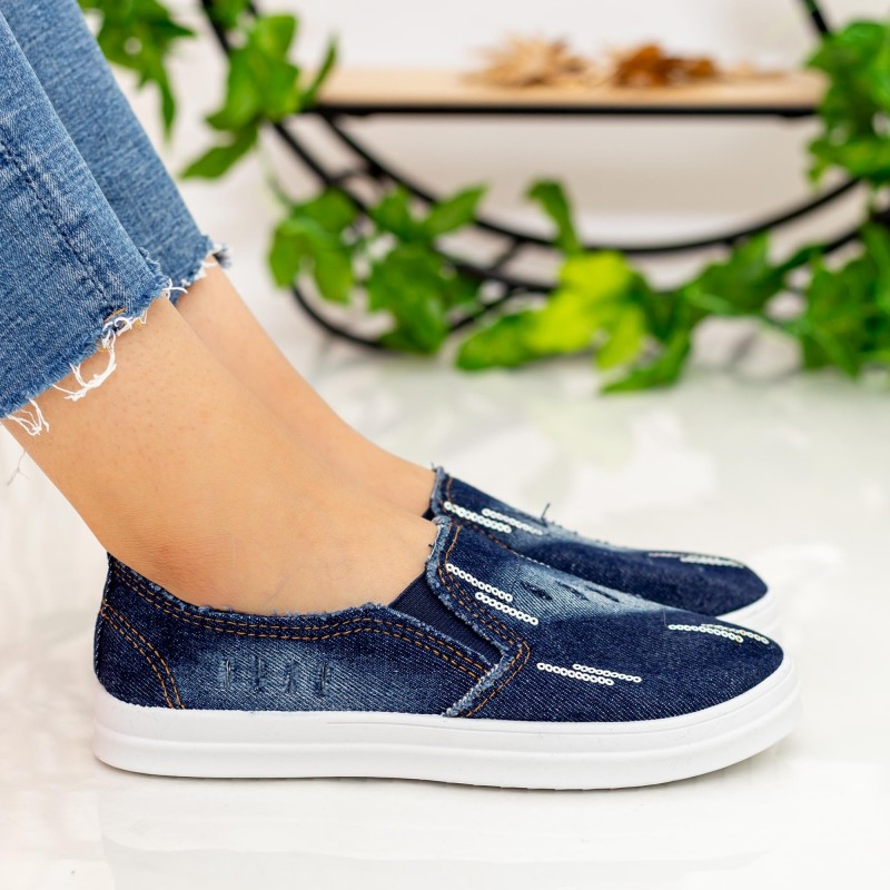 Espadrile Dama H508 Navy Fashion