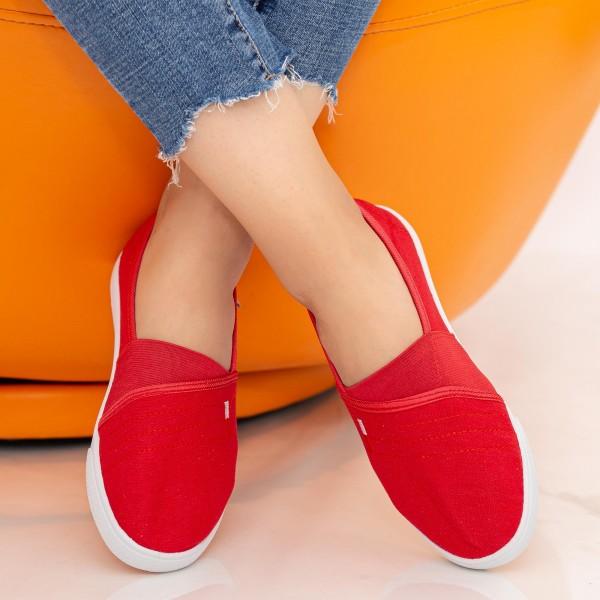 Espadrile Dama H608 Red Fashion