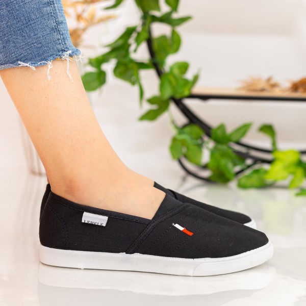 Espadrile Dama H608 Black Fashion