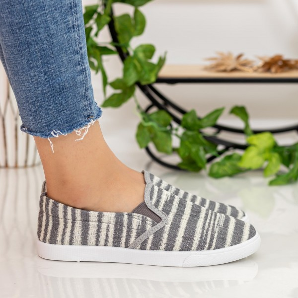 Espadrile Dama H708 Grey Fashion