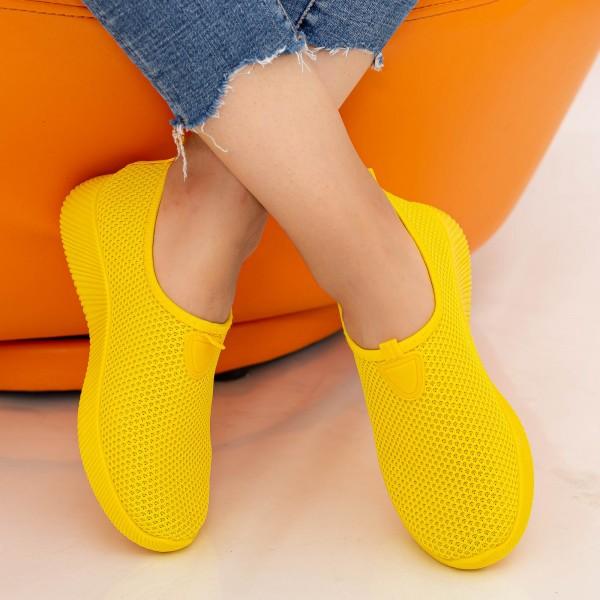 Pantofi Sport Dama W5 Yellow Fashion