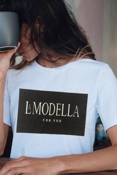 """Tricou Dama """"LA MODELLA"""" 8921 Alb Adrom"""