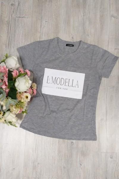 """Tricou Dama """"LA MODELLA"""" 8921 Gri Adrom"""