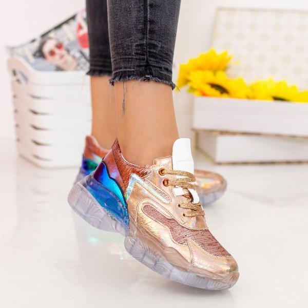 Pantofi Sport Dama X616 Champagne Se7en