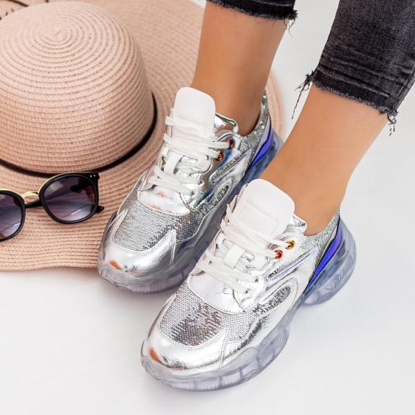 Pantofi Sport Dama X616 Silver Se7en
