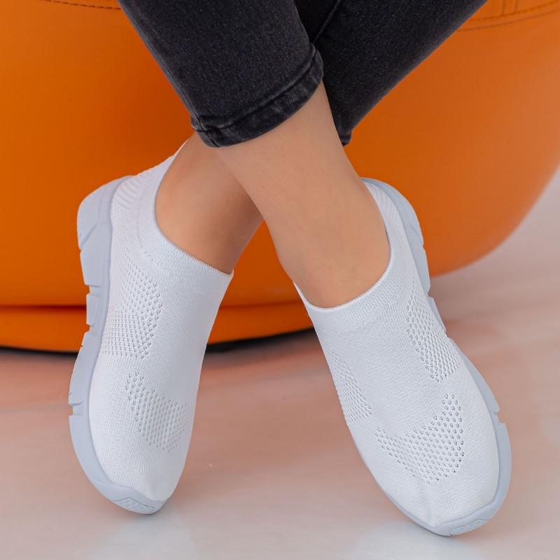 Pantofi Sport Dama E223 White Fashion
