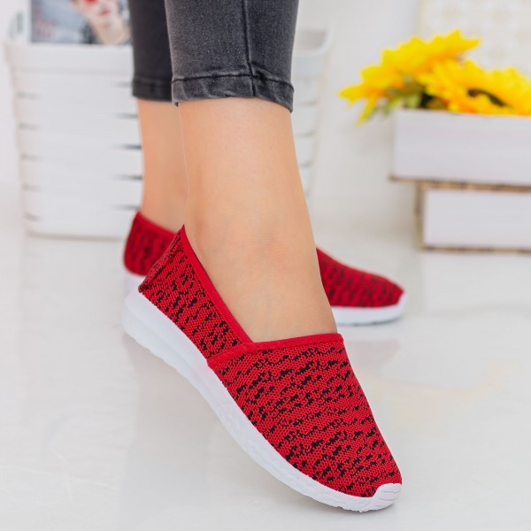 Espadrile Dama E29 Red Fashion